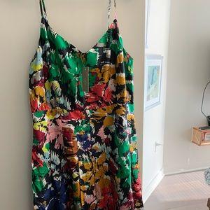NWT: JCrew colorful silk dress in skinny halter 10